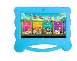 CCIT K8 Kiddy Tablet 16GB HDD – 1GB RAM- 7″ Blue + Cover